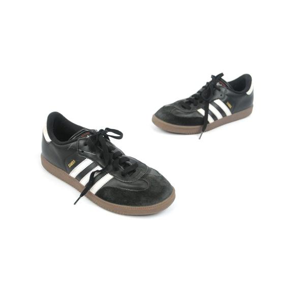 adidas Shoes - Adidas Samba Classic Black Leather Soccer Shoes 1e95ea495